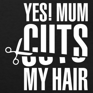 Zwart Yes! Mum cuts my hair 1cl Kinder shirts - Kinderen Bio-T-shirt