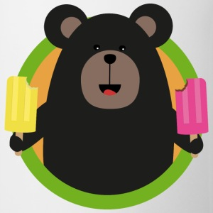 Grizzly with two ice-cream on a stick Sra0p design Mugs & Drinkware - Mug