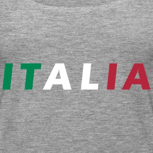 Italia Color Fan Tops - Camiseta de tirantes premium mujer