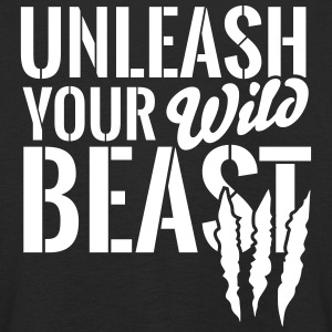 Unleash your wild Beast Langarmede T-skjorter - Premium langermet T-skjorte for barn