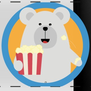 Polar bear eat popcorn with circle S9qqz-design Mugs & Drinkware - Full Color Panoramic Mug
