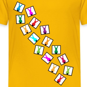many little stamps with easter rabbits Shirts - Kids' Premium T-Shirt