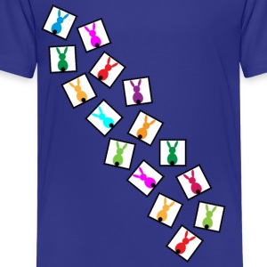 many little stamps with easter rabbits Shirts - Teenage Premium T-Shirt
