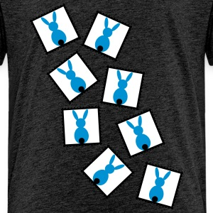 stamps with easter bunnies / easter rabbits Shirts - Kids' Premium T-Shirt