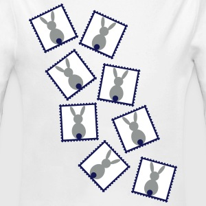 stamps with easter bunnies / easter rabbits Baby Bodysuits - Longlseeve Baby Bodysuit