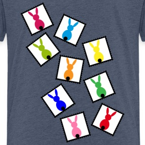 Stamps with easter rabbits / easter bunnies Shirts - Kids' Premium T-Shirt