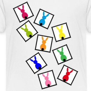 Stamps with easter rabbits / easter bunnies Shirts - Teenage Premium T-Shirt