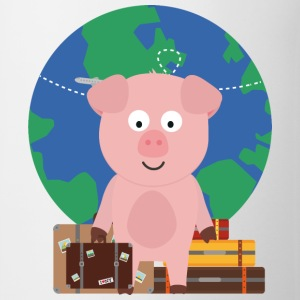 GlobeTrotter travel pig with Sfrz8 design Mugs & Drinkware - Mug