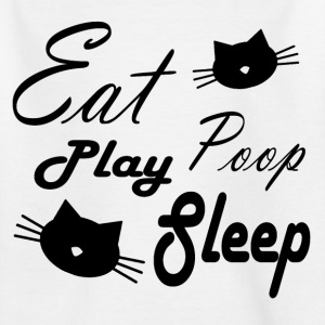 cat life - black Tee shirts - T-shirt Enfant
