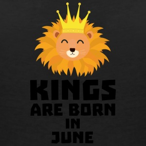 Kings are born in JUNE S6jk8 T-Shirts - Women's V-Neck T-Shirt