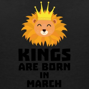 Kings are born in MARCH S3vec T-Shirts - Women's V-Neck T-Shirt