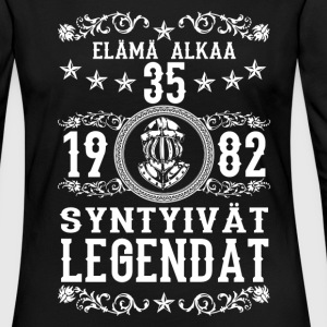 1982 - 35 vuotta - Legendat - 2017 - FI Long Sleeve Shirts - Women's Premium Longsleeve Shirt