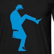 Design ~ John Cleese Silly Walk Black Men's Shirt