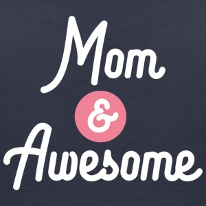 Mom and Awesome Mothersday S11pn T-Shirts - Women's V-Neck T-Shirt