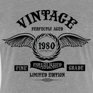 Vintage Perfectly Aged 1980 T-Shirts - Women's Premium T-Shirt