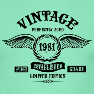 Vintage Perfectly Aged 1981 T-Shirts - Men's T-Shirt