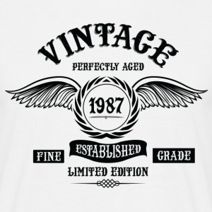Vintage Perfectly Aged 1987 T-Shirts - Men's T-Shirt