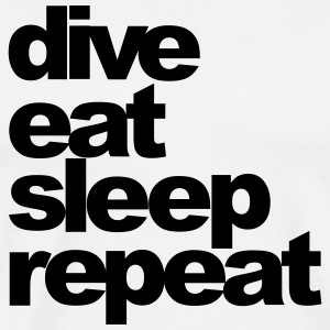 dive eat sleep repeat - Männer Premium T-Shirt