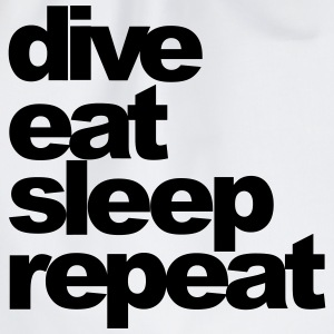 dive eat sleep repeat - Turnbeutel