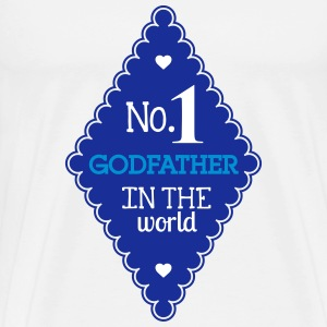 Godfather Pate Parrain Baby Bebe Birth Family T-Shirts - Men's Premium T-Shirt
