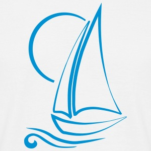 Sailboat Segelboot - Männer T-Shirt