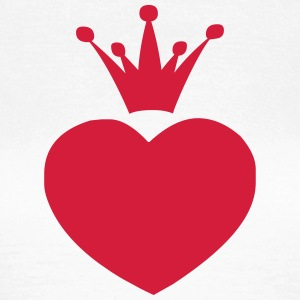Heart and crown - Frauen T-Shirt