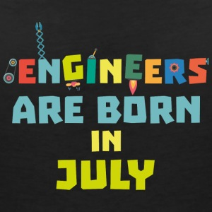 Engineers are born in July Sw3c8 T-Shirts - Women's V-Neck T-Shirt