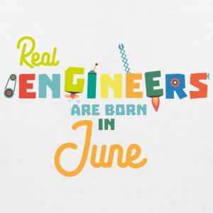 Engineers are born in June Svl3m T-Shirts - Women's V-Neck T-Shirt