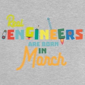 Engineers are born in March Se8bc Baby Shirts  - Baby T-Shirt