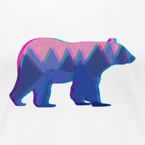 3D Mountain Bear - Women's Premium T-Shirt