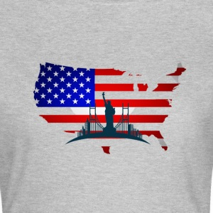 I Love USA  T-Shirts - Frauen T-Shirt
