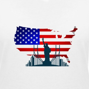 I Love USA T-Shirts - Women's V-Neck T-Shirt