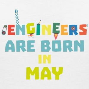 Engineers are born in May S863d T-Shirts - Women's V-Neck T-Shirt