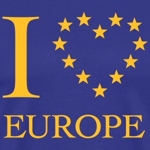 I LOVE EUROPE, EU HERZ, HEART, LIEBE EUROPA,  T-Shirts - Men's Premium T-Shirt