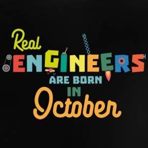 Engineers are born in October 52p Baby Shirts  - Baby T-Shirt