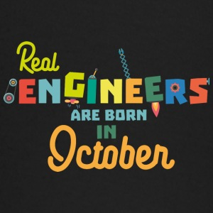 Engineers are born in October 52p Baby Long Sleeve Shirts - Baby Long Sleeve T-Shirt