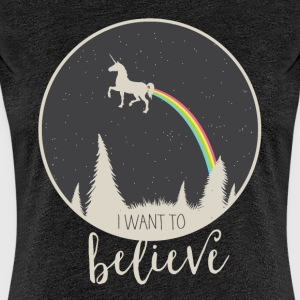 I want to believe - Women's Premium T-Shirt