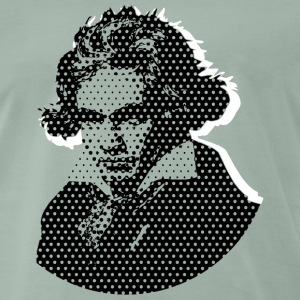 Beethoven in Dots - Black T-Shirts - Männer Premium T-Shirt
