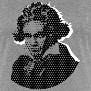 Beethoven in Dots - Black T-Shirts - Frauen Premium T-Shirt