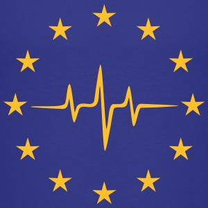 Pulse of Europe, EU, Europa puls, frequentie, vlag Shirts - Teenager Premium T-shirt