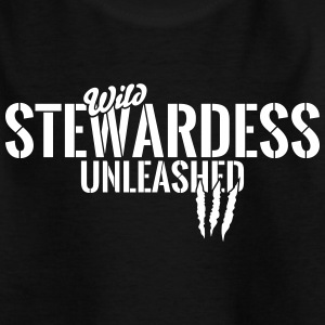 Vilde stewardesse unleashed T-shirts - Teenager-T-shirt