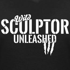 Wild sculptor unleashed T-Shirts - Women's V-Neck T-Shirt
