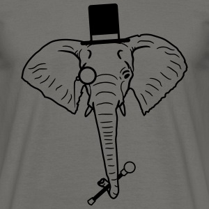 sir mr herrer sylinder hat monokel briller elefant T-skjorter - T-skjorte for menn