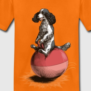 Orange Cocker Spaniel Spacehop T-Shirts - Kinder Premium T-Shirt