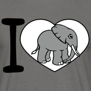 Love, i love, love, elephant, small, cute, cute, b T-Shirts - Men's T-Shirt