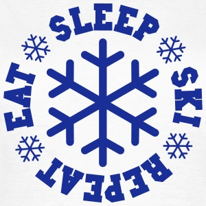 Eat ski sleep repeat - flocon - T-shirt Femme
