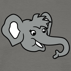 Head face happy elephant cute sweet cute baby chil T-Shirts - Men's T-Shirt