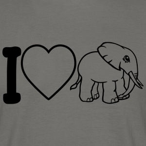 I love heart love elephant small cute cute baby ch T-Shirts - Men's T-Shirt