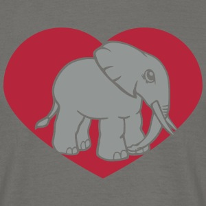 Heart, love, i love, love, elephant, cute, sweet,  T-Shirts - Men's T-Shirt