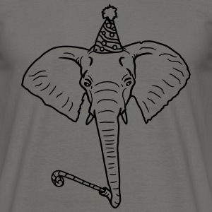Happy birthday, birthday, birthday, party, elephan T-Shirts - Men's T-Shirt
